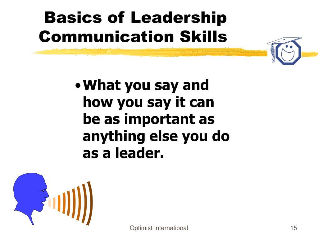 Basics of Leadership