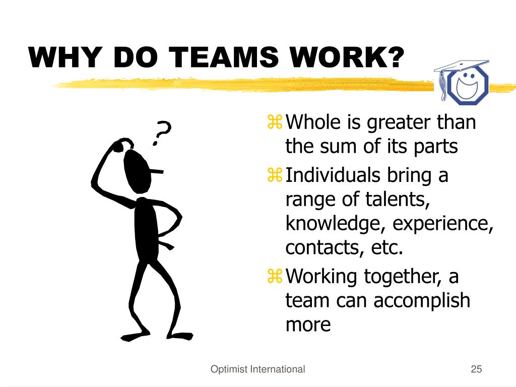WHY DO TEAMS WORK?