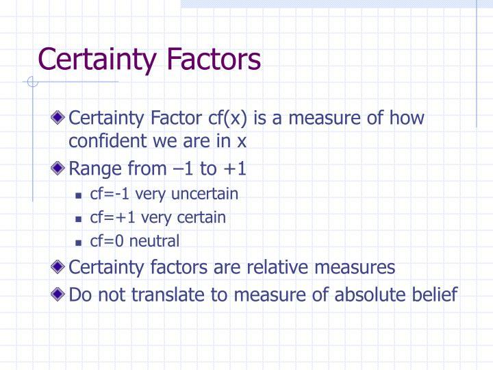 Certainty Factors