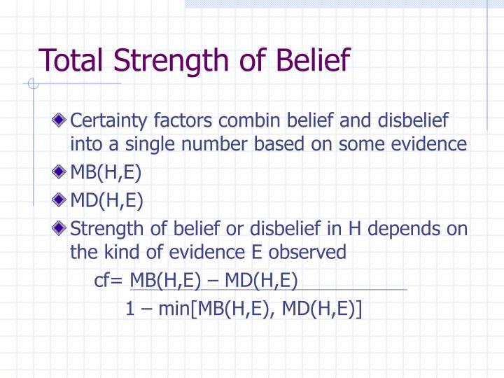 Total Strength of Belief