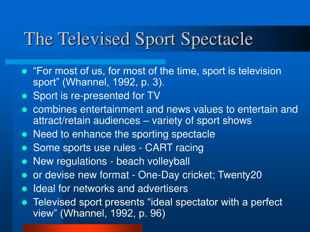 The Televised Sport Spectacle