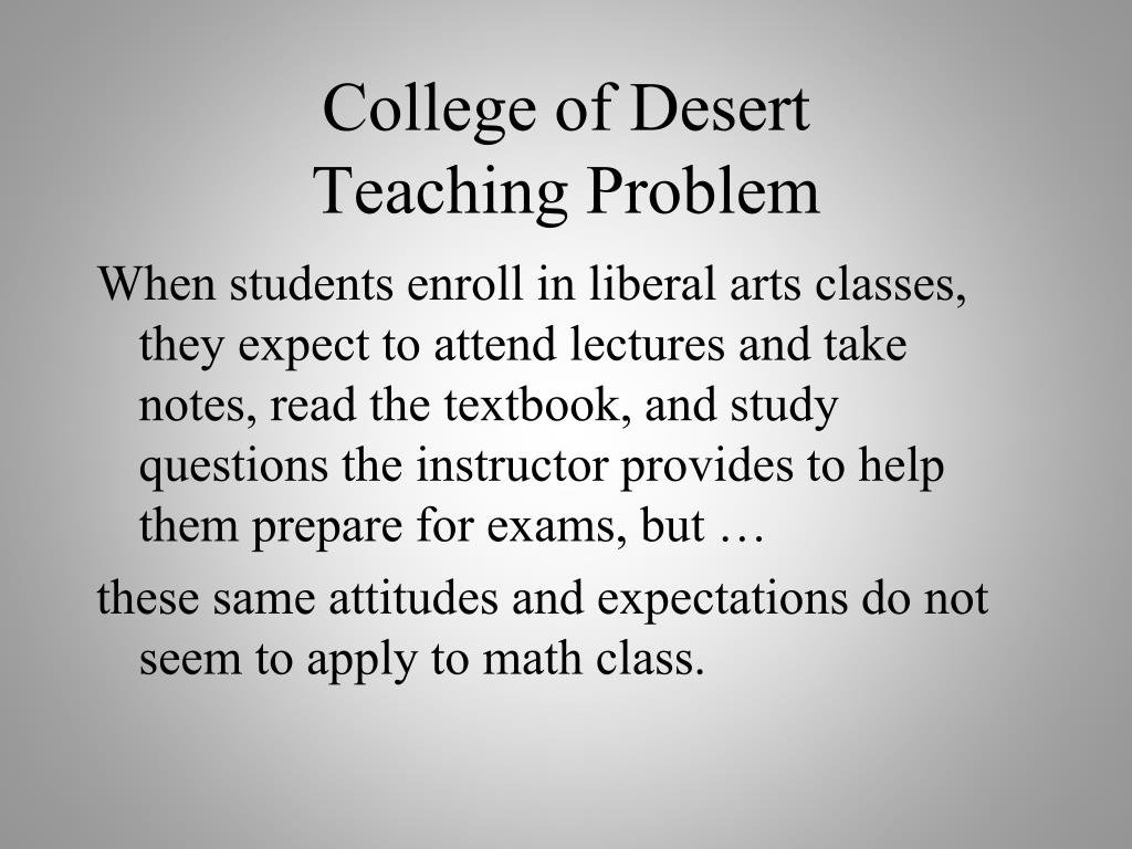 College of Desert