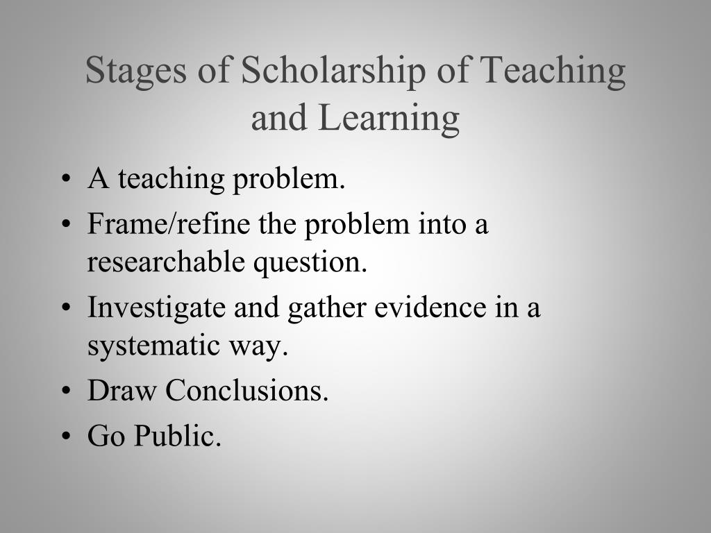 Stages of Scholarship of Teaching and Learning