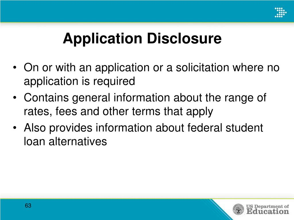 Application Disclosure