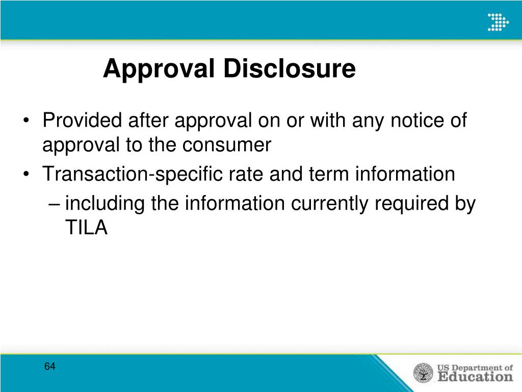 Approval Disclosure