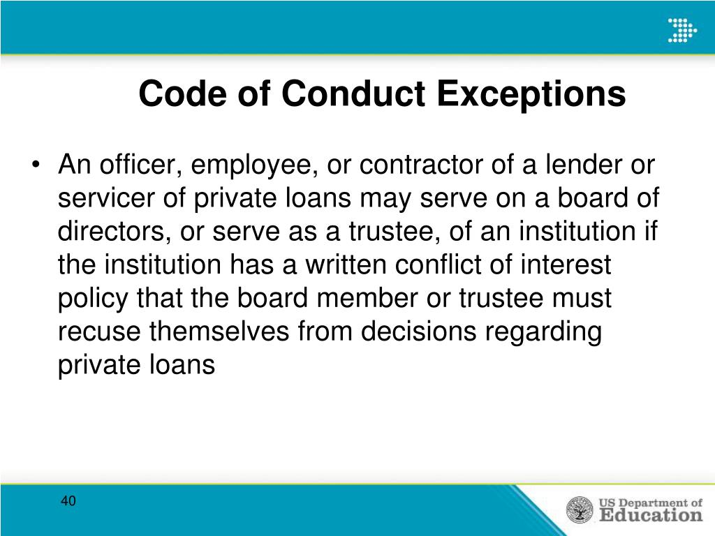Code of Conduct Exceptions