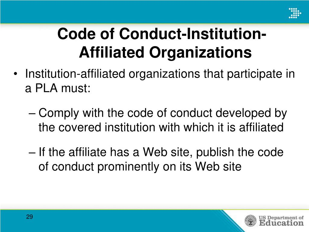 Code of Conduct-Institution-        Affiliated Organizations