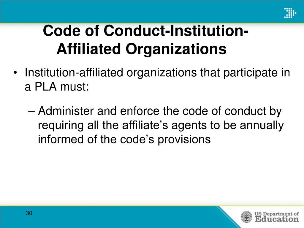 Code of Conduct-Institution-Affiliated Organizations