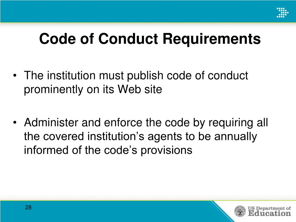 Code of Conduct Requirements