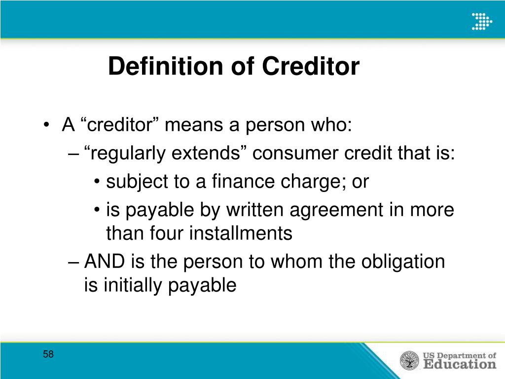 Definition of Creditor