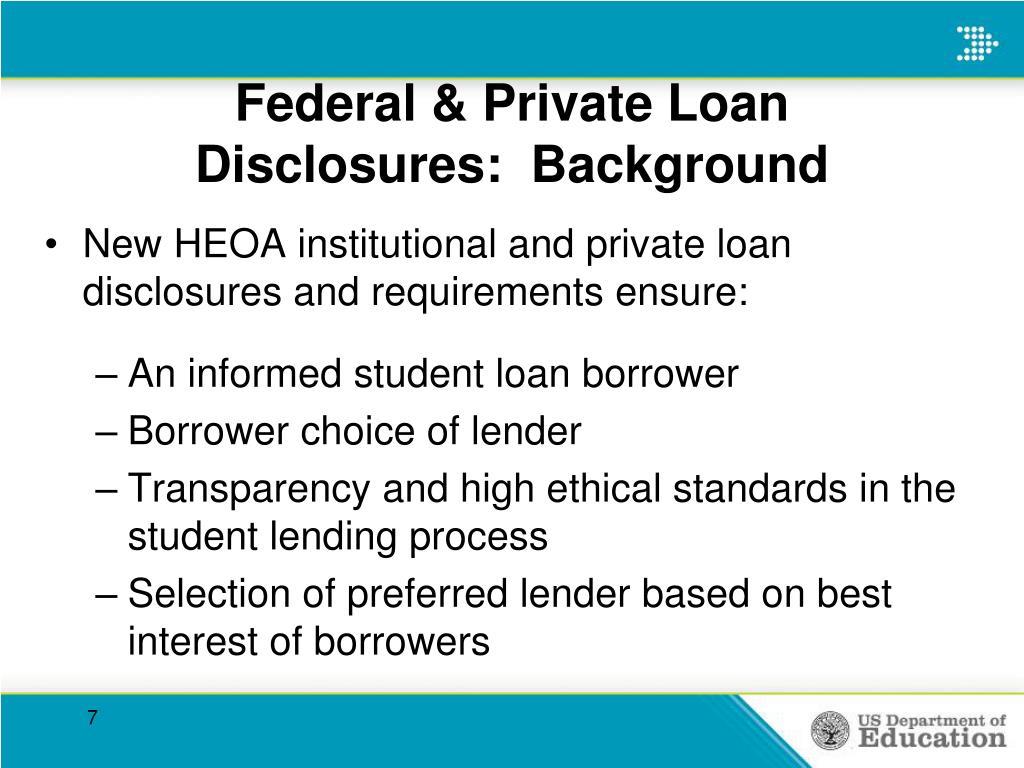 Federal & Private Loan