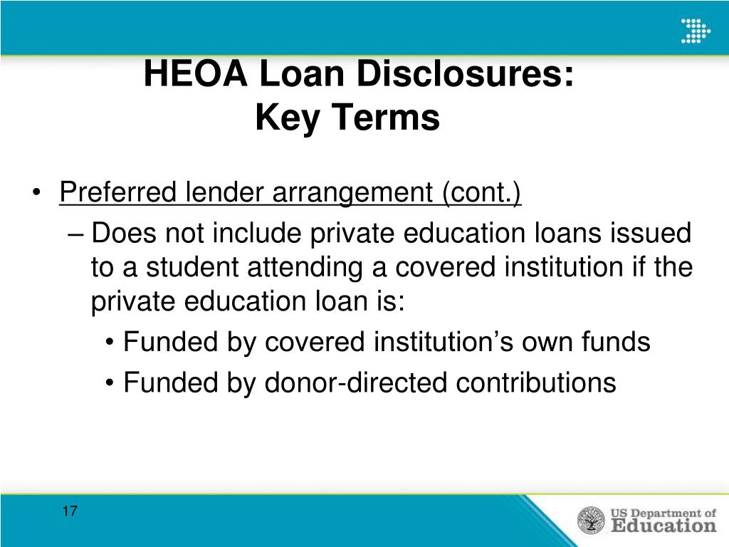 HEOA Loan Disclosures: