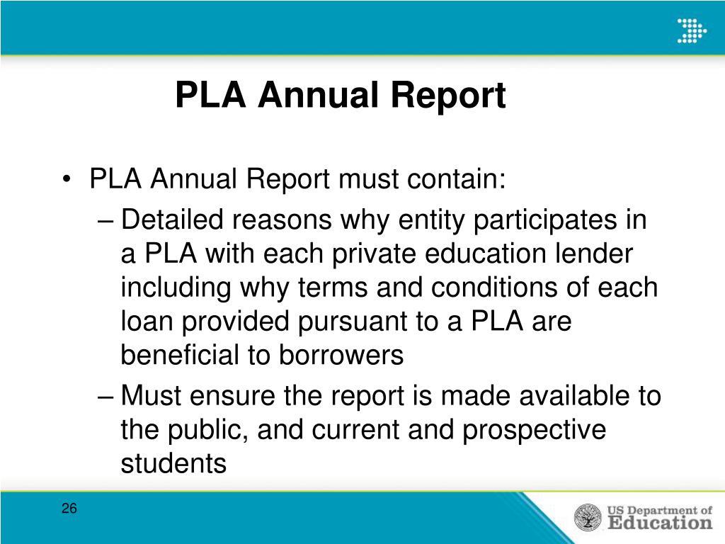 PLA Annual Report