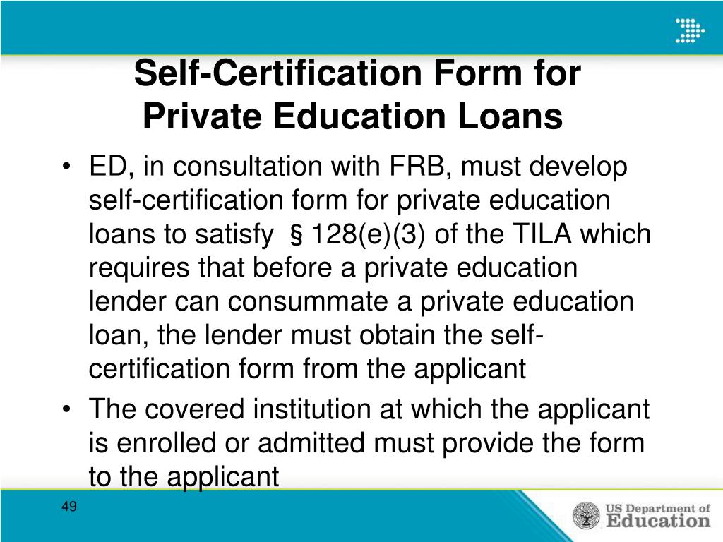 Self-Certification Form for