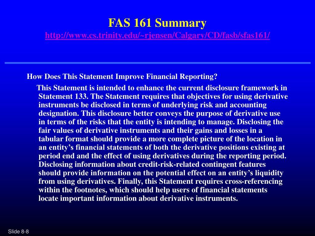 FAS 161 Summary