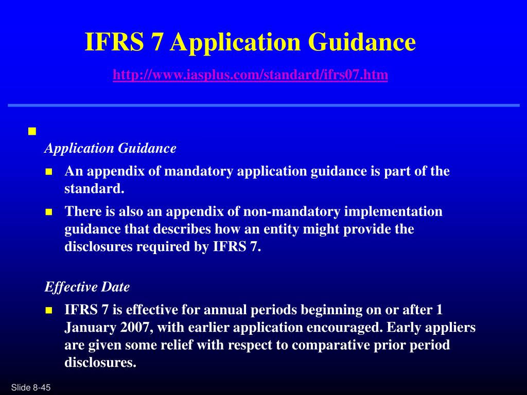 IFRS 7 Application Guidance