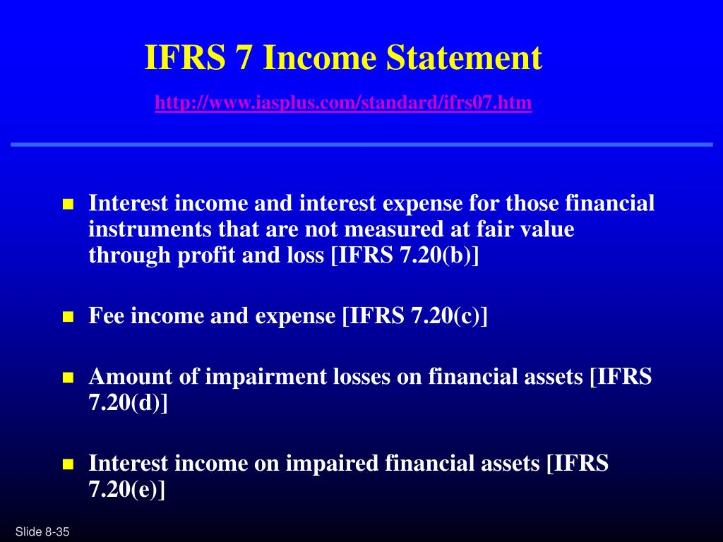 IFRS 7 Income Statement