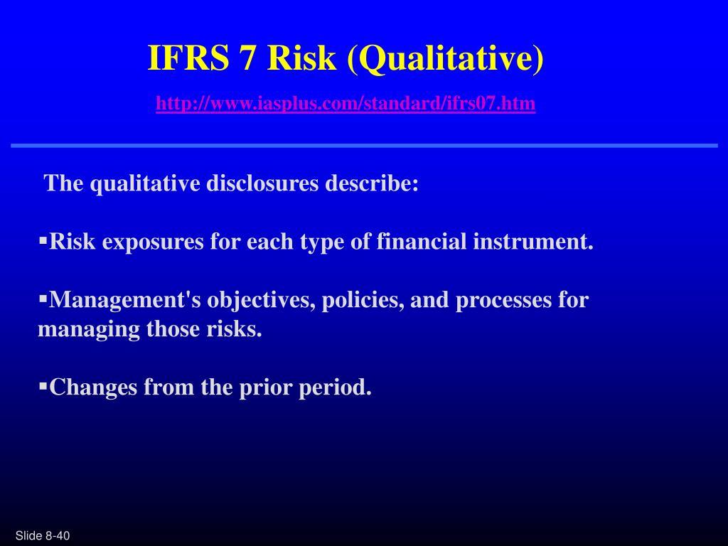 IFRS 7 Risk (Qualitative)
