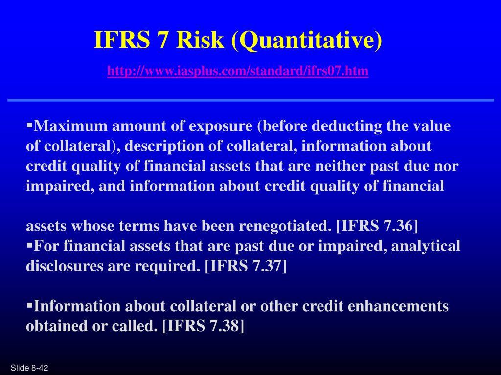 IFRS 7 Risk (Quantitative)