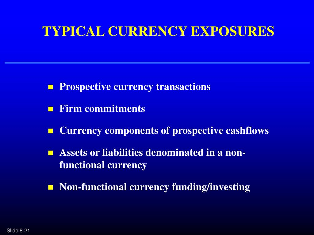 TYPICAL CURRENCY EXPOSURES