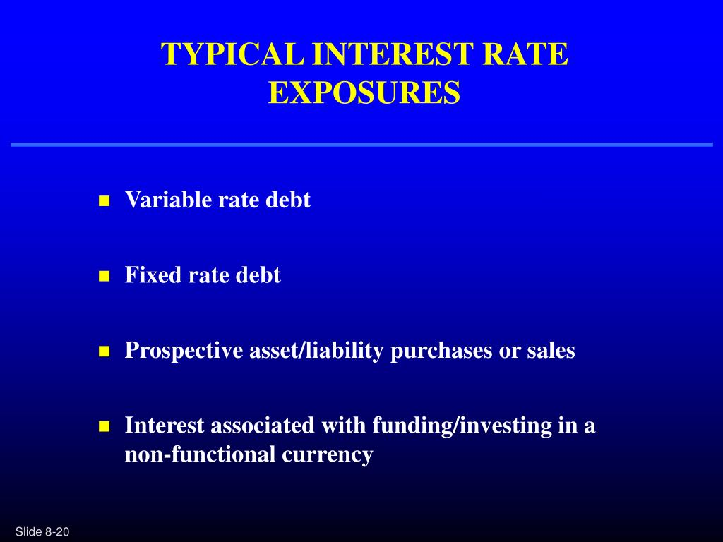 TYPICAL INTEREST RATE EXPOSURES