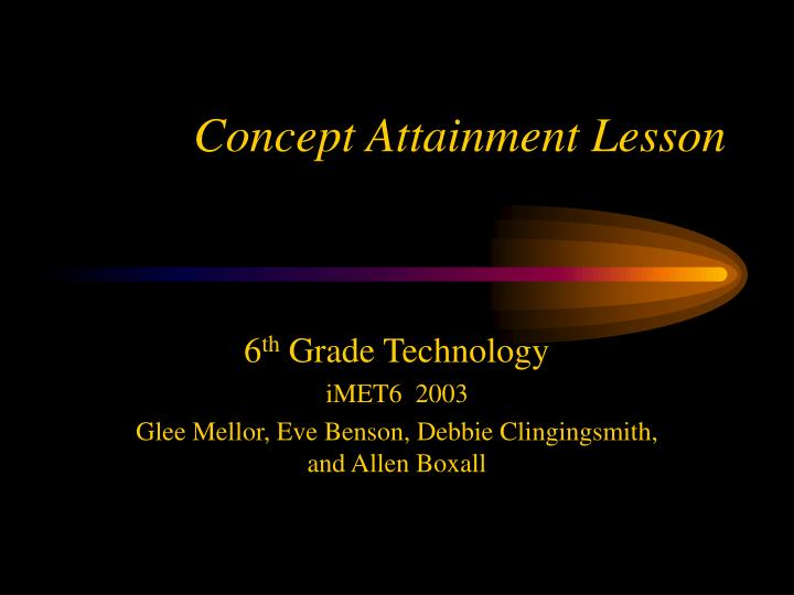 Concept attainment lesson