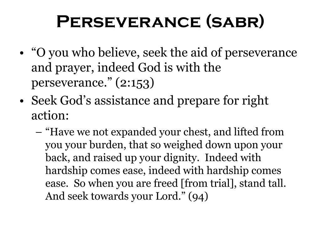 Perseverance (sabr)