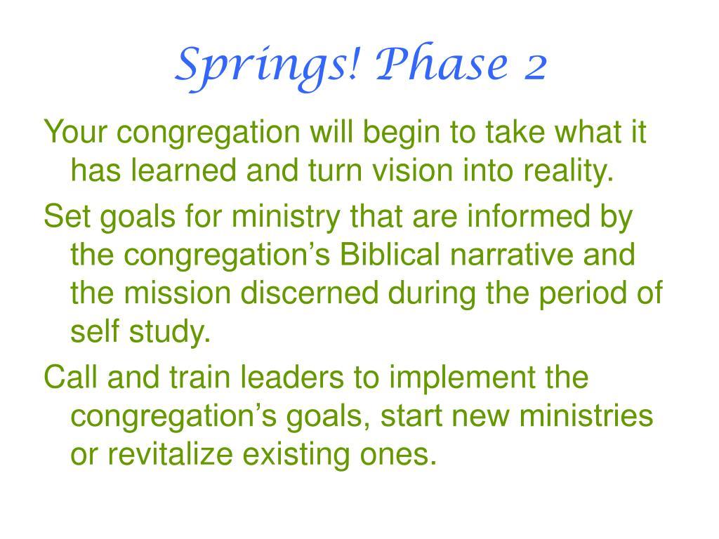 Springs! Phase 2