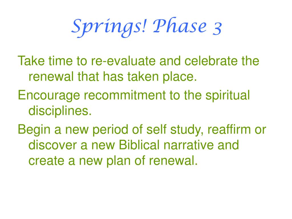 Springs! Phase 3