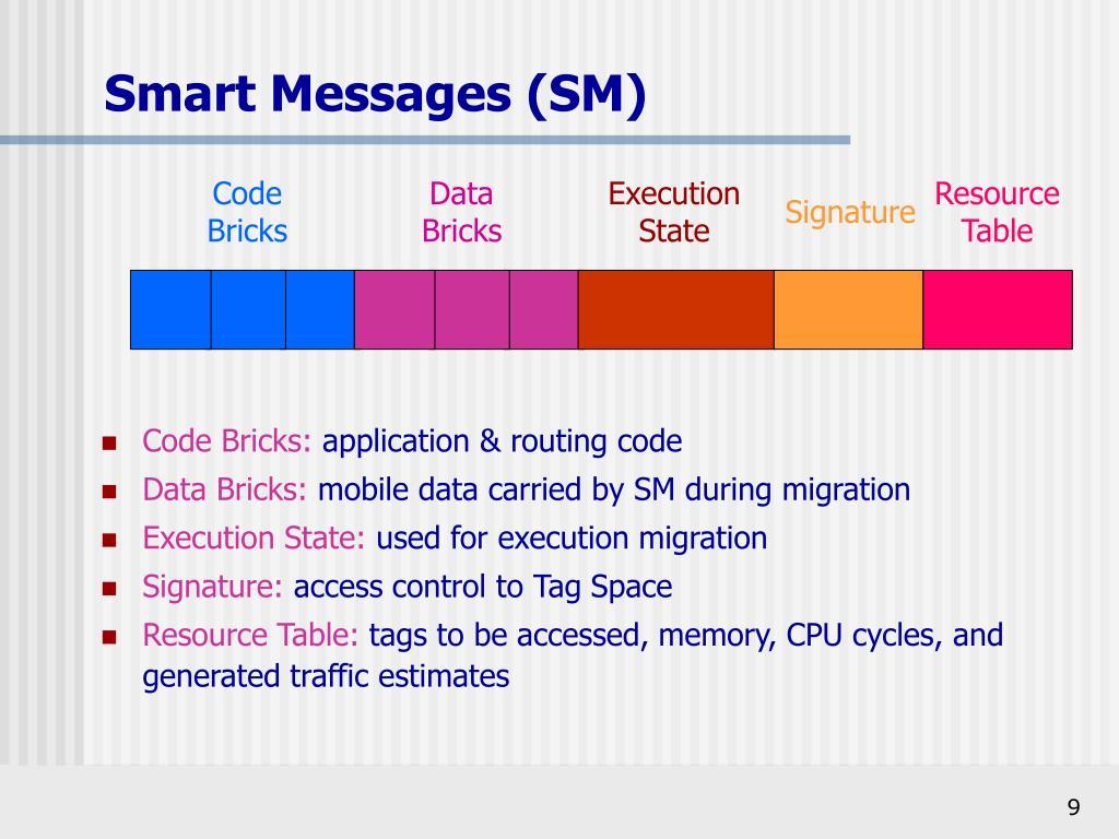Smart Messages (SM)