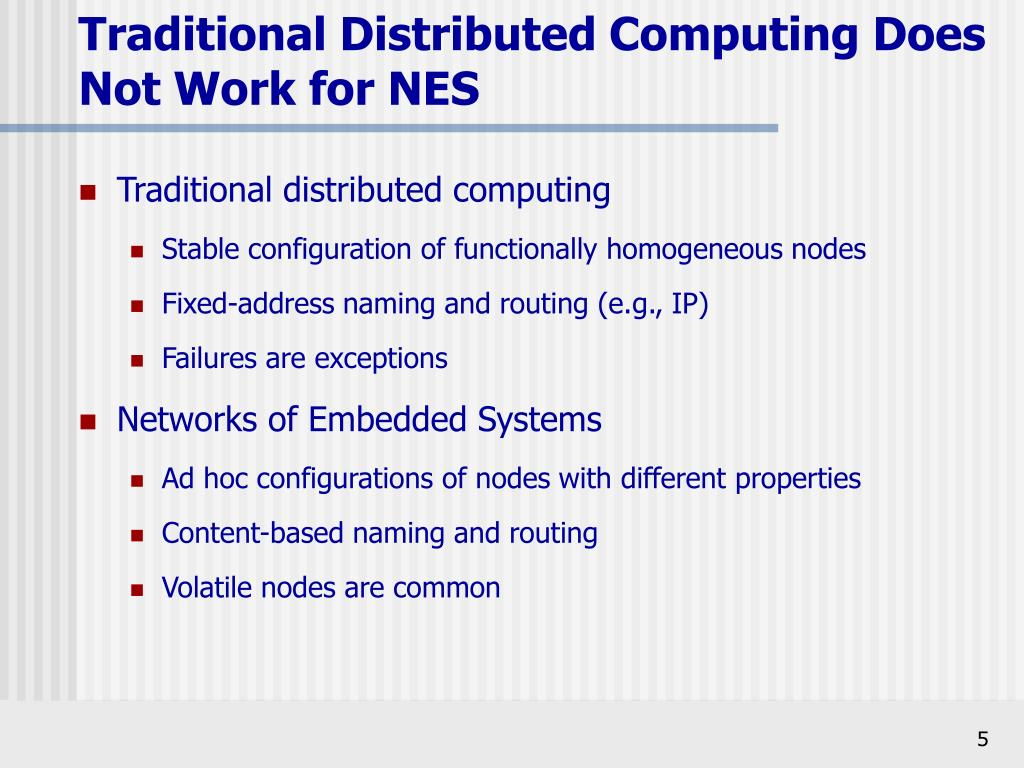 Traditional distributed computing