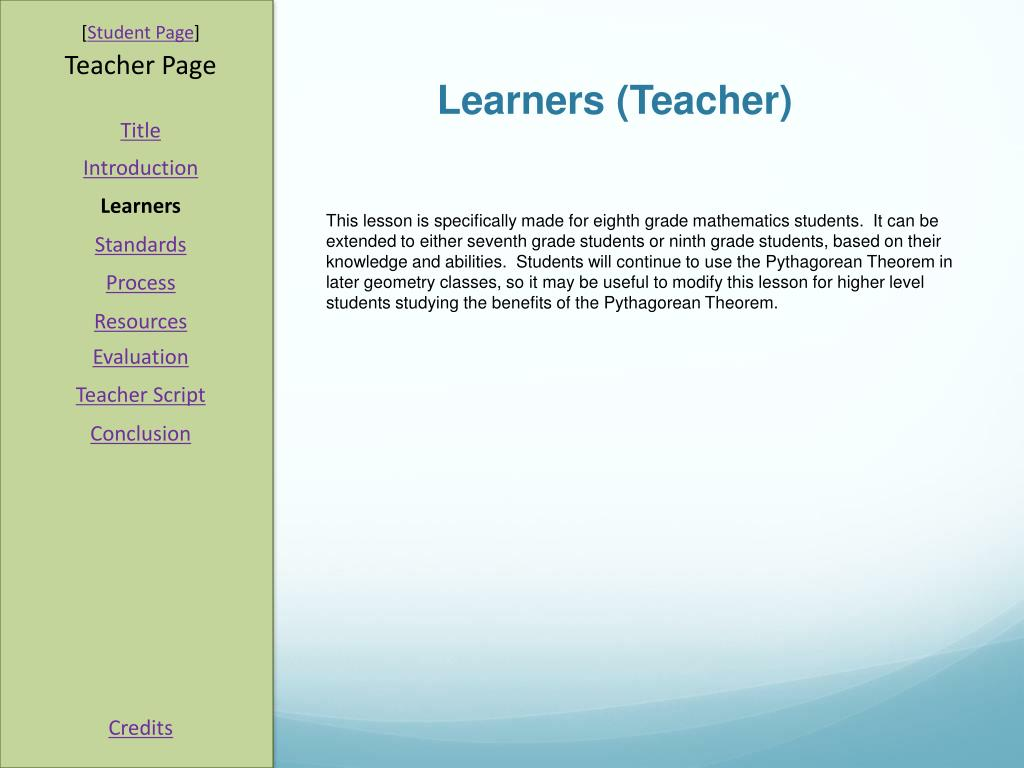 Learners (Teacher)
