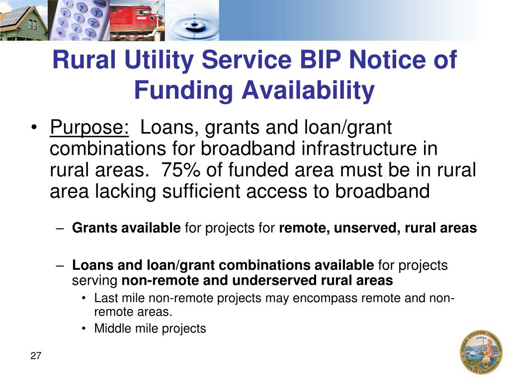 Rural Utility Service BIP Notice of Funding Availability