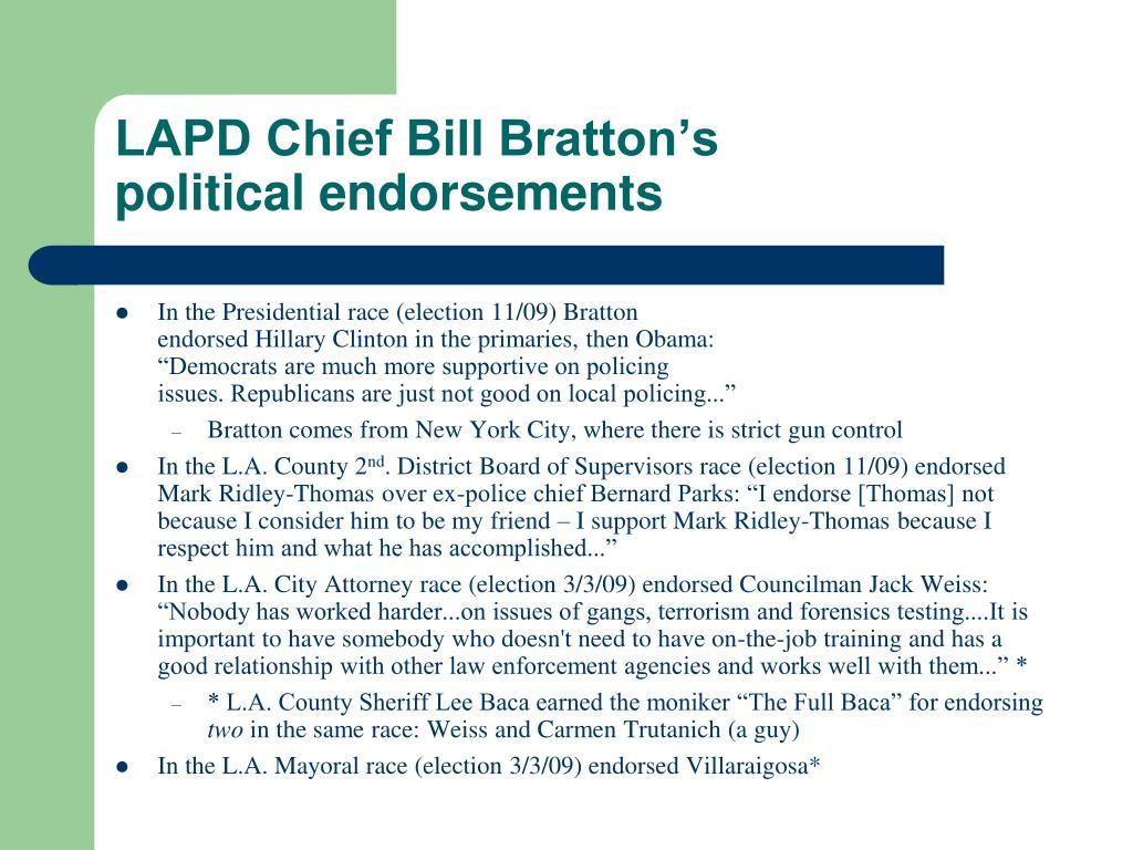 LAPD Chief Bill Bratton's