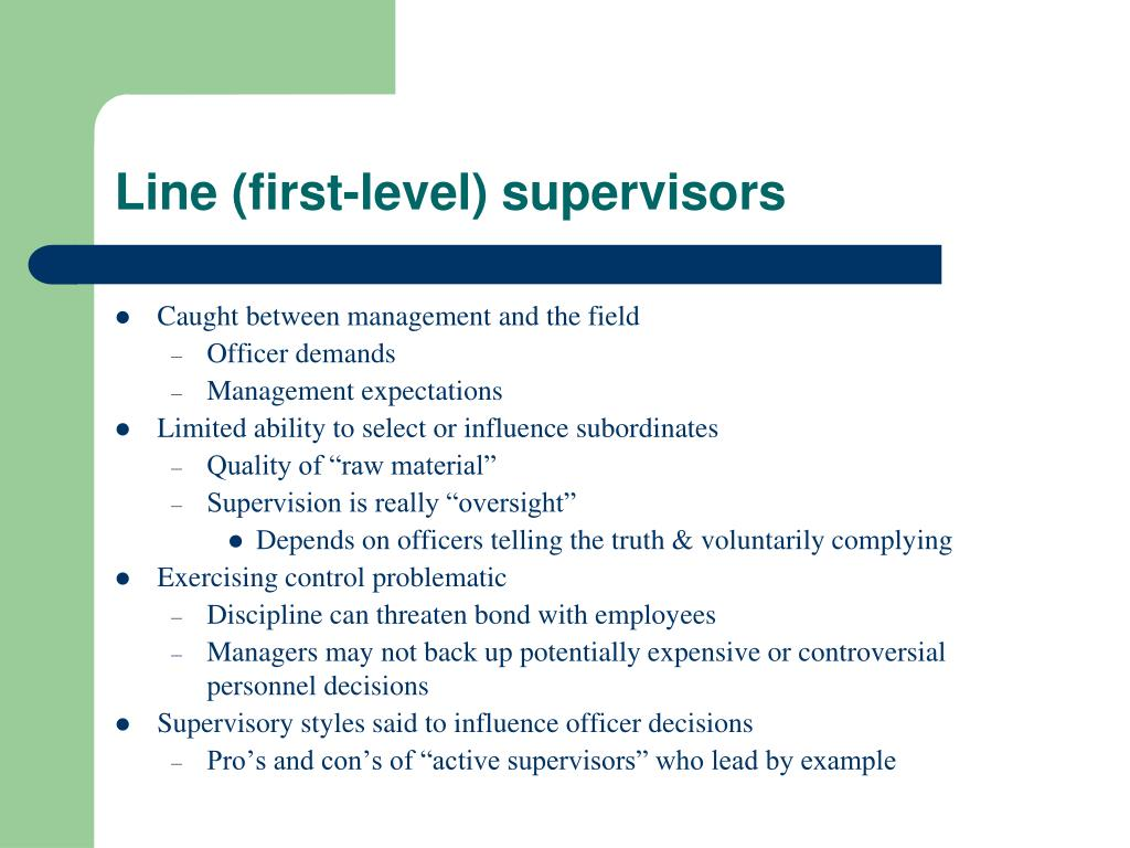 Line (first-level) supervisors