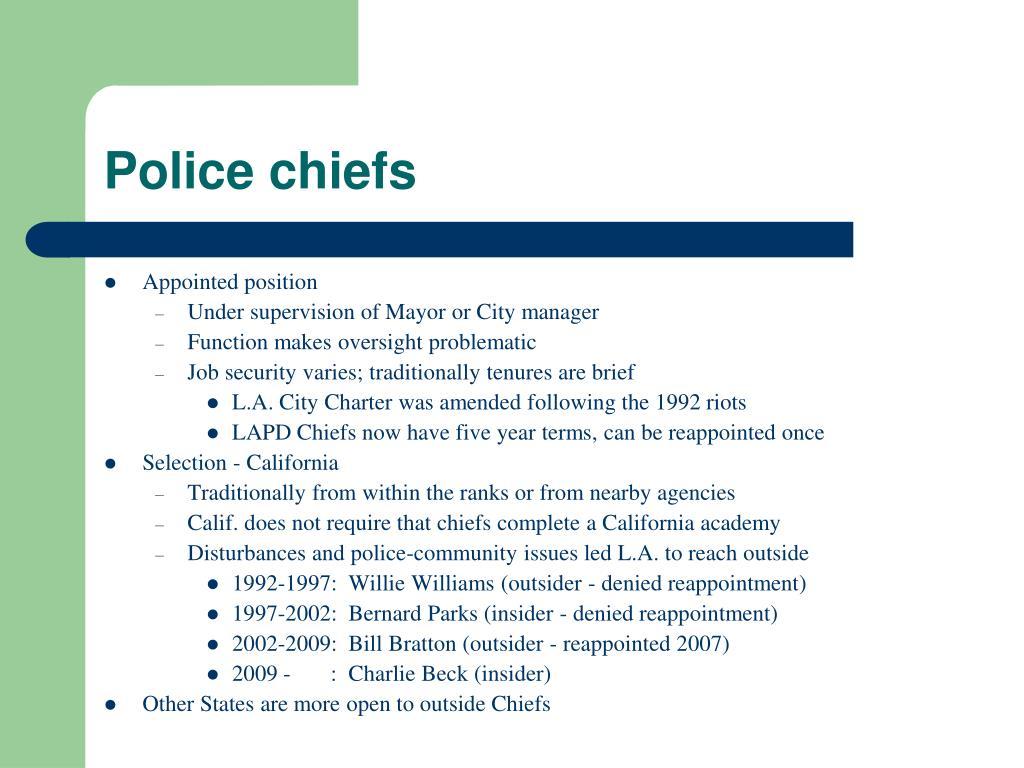 Police chiefs