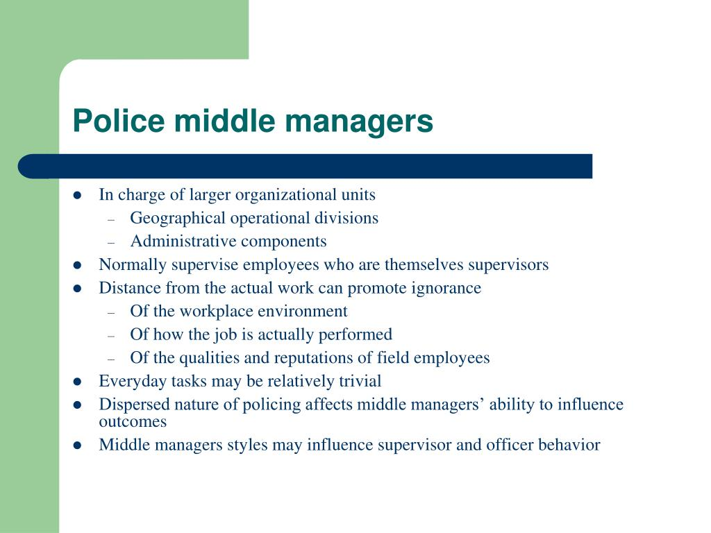 Police middle managers