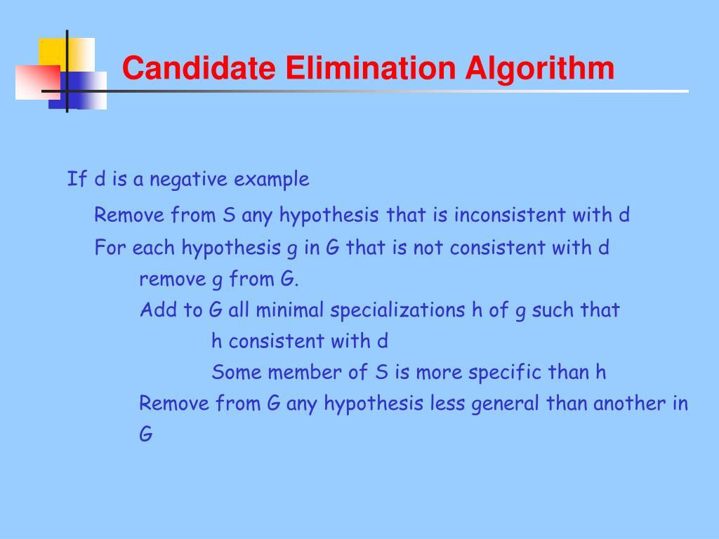 Candidate Elimination Algorithm