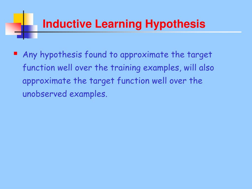 Inductive Learning Hypothesis