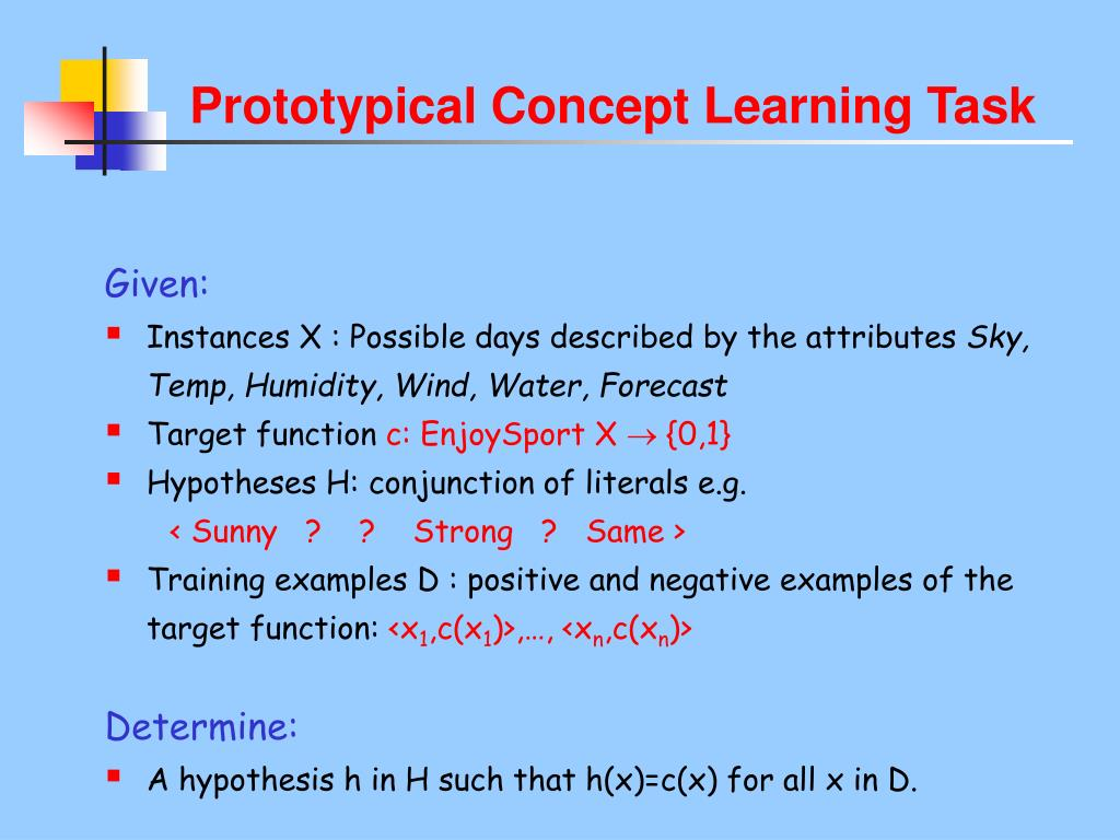 Prototypical Concept Learning Task