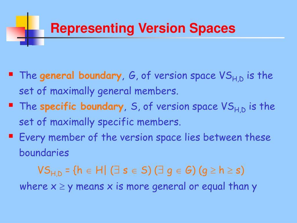 Representing Version Spaces