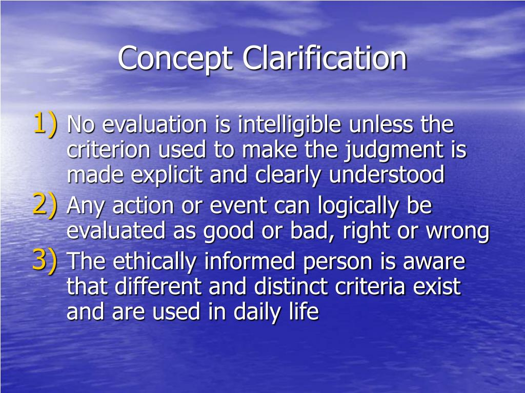Concept Clarification