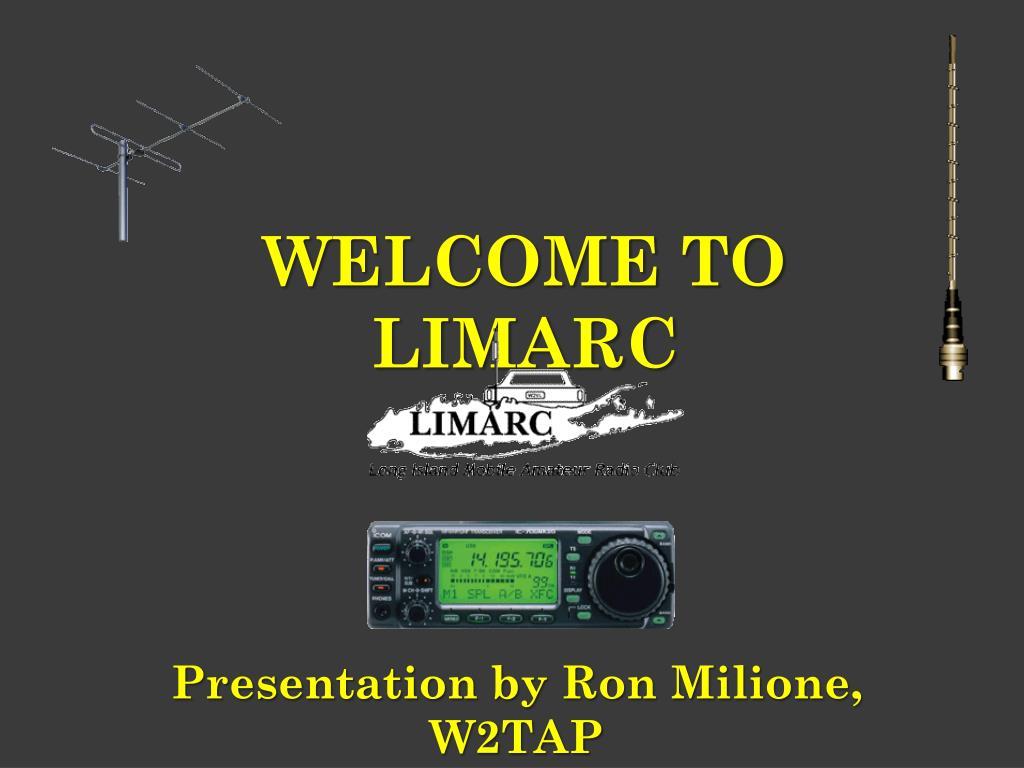 Presentation by Ron Milione, W2TAP