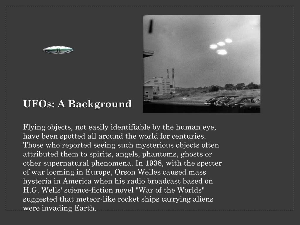 UFOs: A Background