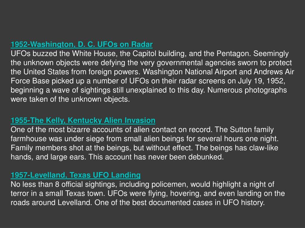1952-Washington, D. C. UFOs on Radar