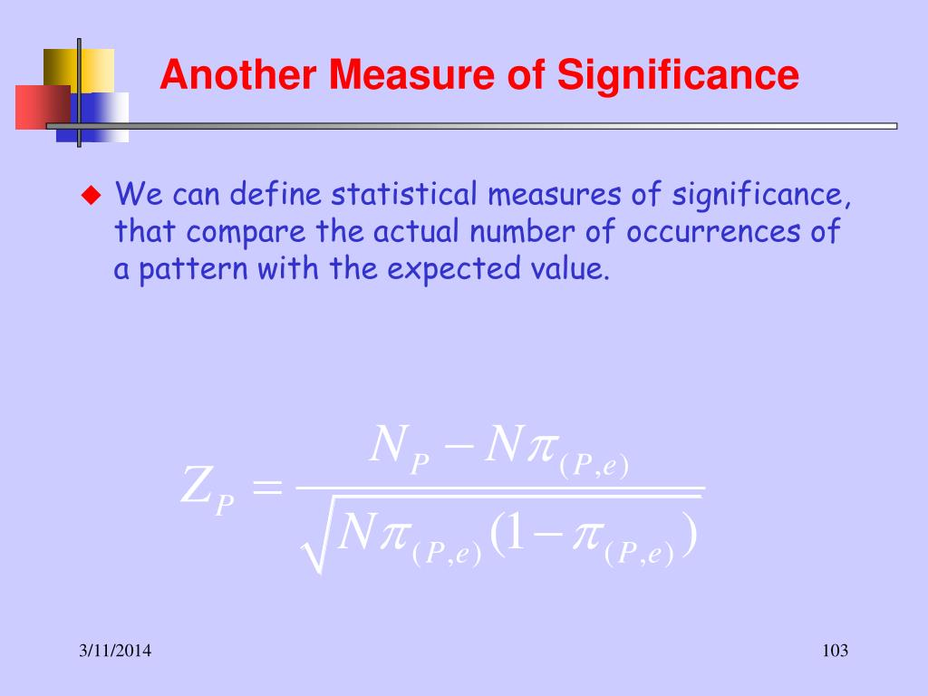Another Measure of Significance
