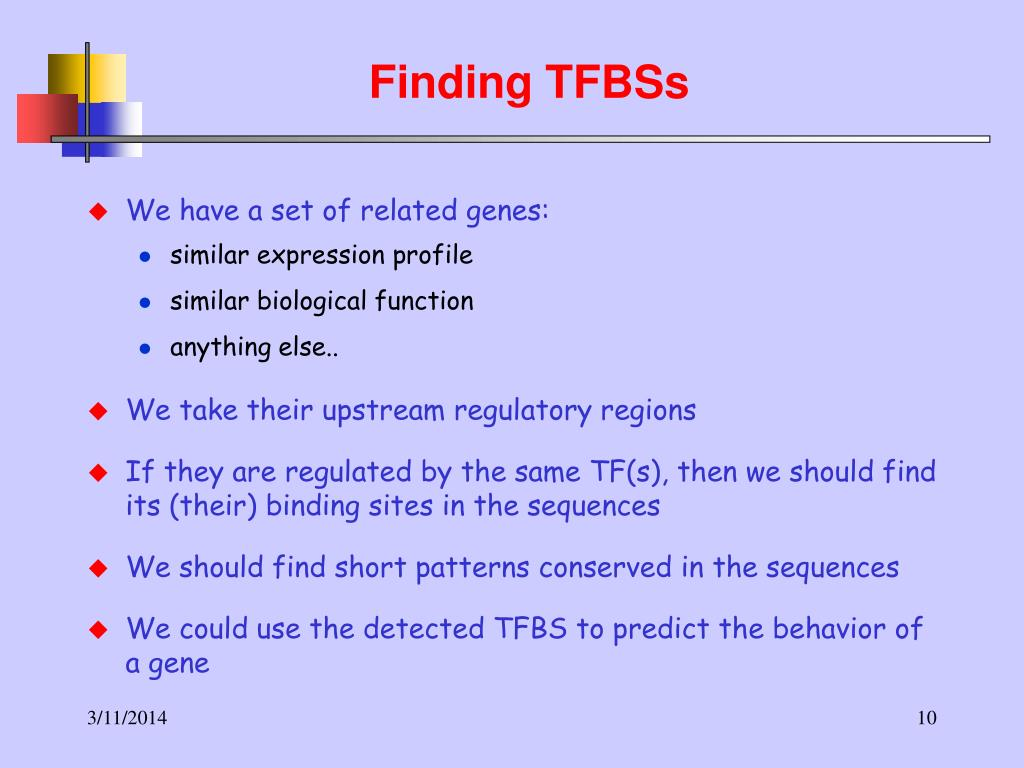 Finding TFBSs