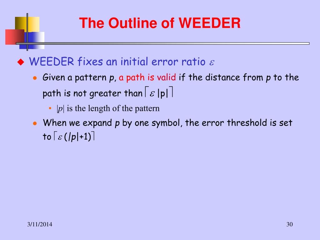 The Outline of WEEDER