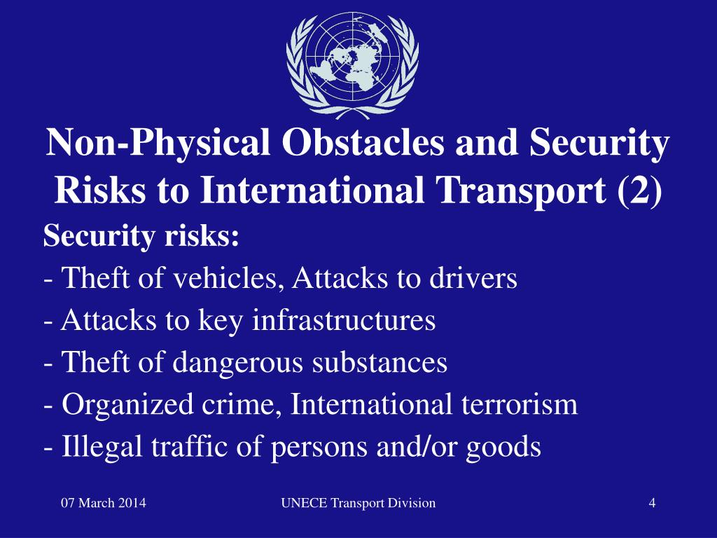 Non-Physical Obstacles and Security Risks to International Transport (2)