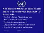 non physical obstacles and security risks to international transport 2